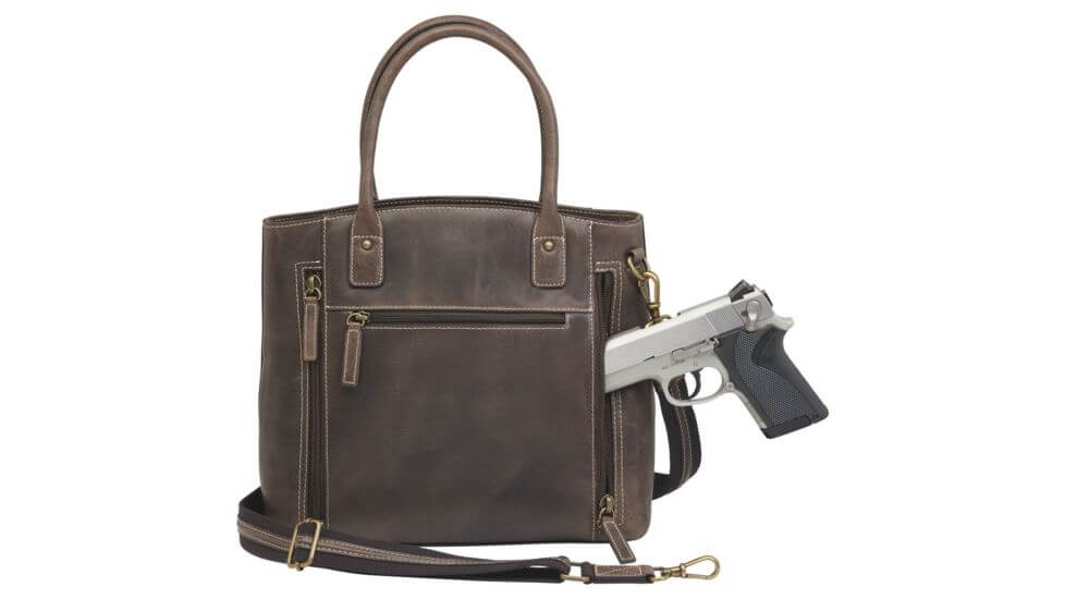 Gun Tote'n Mamas Concealed Carry Distressed Leather Tote Purse