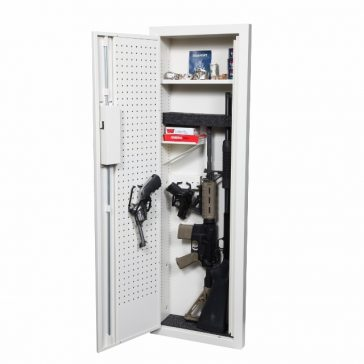 the Closet Vault II in-wall gun safe with pistol hangers