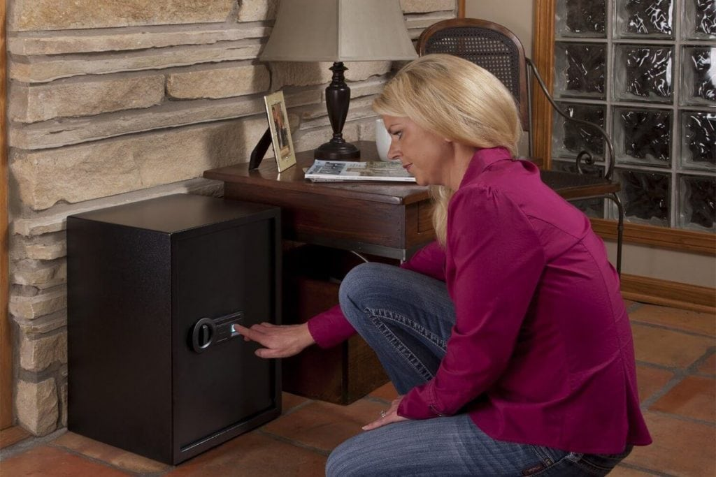 Stack-On PS-15-20-B Super Sized Large Personal Biometric Safe